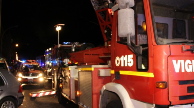 incendio ex ancione, incendio ragusa, Ragusa, Cronaca