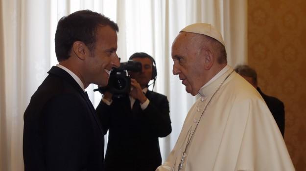 macron dal papa, scontro italia francia, Emmanuel Macron, Papa Francesco, Sicilia, Mondo