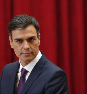 Il premier spagnolo Pedro Sanchez