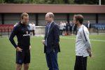Inghilterra, il principe William visita la squadra