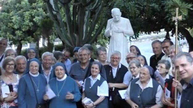 Sorge a Brancaccio una statua dedicata ad Alberione fondatore delle Edizioni Paoline