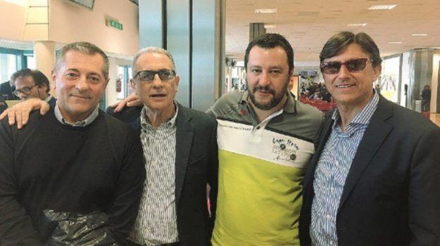 scontro lega catania, Anastasio Carrà, Angelo Attaguile, Fabio Cantarella, Filippo Drago, Matteo Salvini, Catania, Politica
