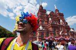 I tifosi colombiani invadono la Piazza Rossa