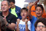 I tifosi riuniti al circolo Tc2 di Palermo per seguire la semifinale del Roland Garros tra Marco Cecchinato e Dominic Thiem
