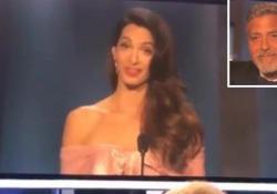 Discorso strappalacrime della signora Clooney