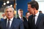 Antonio Tajani e Mark Rutte