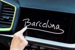 Molte le novità nella nuova Audi A1, tra cui la possibilità di scrivere con le dita sul display