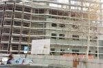Il cantiere in costruzionedella nuova aladel palazzo di giustiziadi Caltanissetta