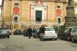 La zona del centro storico di Caltanissetta interessata ad lavori per l'allestimento dei piloni a scomparsa