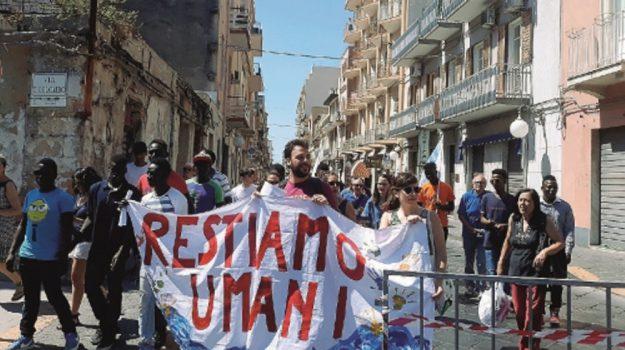 augusta corteo migranti, Siracusa, Cronaca