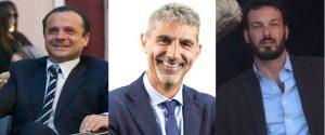 I neo sindaci di Messina, Ragusa e Siracusa: Cateno De Luca, Giuseppe Cassì e Francesco Italia