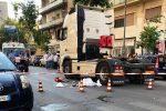 Anziana travolta a Palermo da un camion, le immagini da via Dei Cantieri