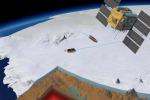 Nell'immagine la zona dell'Antartide occidentale è vista in sezione: la crosta terrestre (marrone), la litosfera (in rosso) e il mantello terrestre in giallo (fonte: Planetary Visions/ESA Illustration text: VR. Barletta)