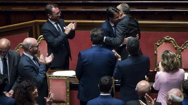 discorso conte senato, governo, Giuseppe Conte, Sicilia, Politica