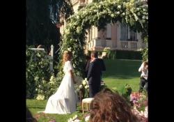 La cerimonia a Ville Ponti, a Varese