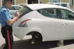 Furto ad Agrigento, rubati gli pneumatici dell'auto di un giudice