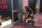 Paura a Palermo, incendio nella notte in una profumeria di via De Gasperi