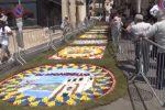 Mondello, un tappeto floreale per la terza edizione dell'Infiorata