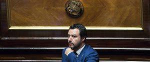 Il ministro delli'Interno e vicepremier Matteo Salvini