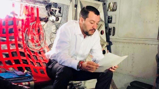 hotspot, migranti, salvini in libia, Matteo Salvini, Sicilia, Politica