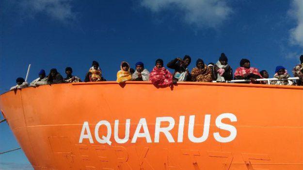 medici senza frontiere, migranti, nave aquarius, sbarchi, Sos Méditerranée, Sicilia, Cronaca