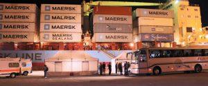 La nave portacontainer danese Alexander Maersk arrivata a Pozzallo