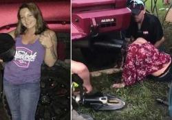 """Nel (grosso) tubo di scappamento di una macchina. E la giovane è diventata nottetempo una """"celebrità"""" locale"""