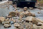 Maltempo a Fantina, le immagini delle strade inondate dai detriti
