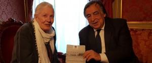 Palermo, Orlando riceve in Comune l'attrice premio Oscar Vanessa Redgrave