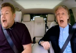 Sir Paul McCartney è salito in auto con James Corden e i due hanno cantato i successi dei Beatles