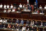 Il presidente della Camera, Roberto Fico e la presidente del Senato Maria Elisabetta Alberti Casellati, durante la cerimonia conclusiva dell'edizione 2018 dell'iniziativa