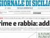 Giornale di Sicilia, prima pagina dedicata al ko del Palermo