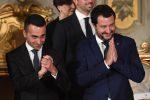 I due vice premier Matteo Salvini (D) e Luigi Di Maio (S) durante il giuramento del Governo