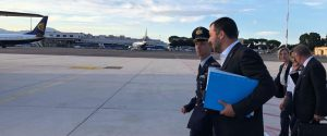 Matteo Salvini in partenza per la Libia - Foto Facebook
