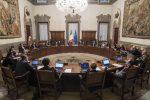 Il consiglio dei ministri a palazzo Chigi