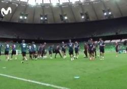 L'ultima trovata dei preparatori della nazionale spagnola ha divertito gli stessi calciatori