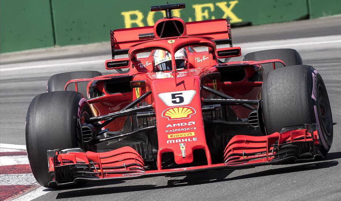 gp del canada la ferrari di vettel in pole hamilton quarto giornale di sicilia. Black Bedroom Furniture Sets. Home Design Ideas
