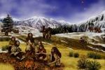 Rappresentazione artistica di una famiglia Neandertal intorno al fuoco (fonte: NASA/JPL-Caltech)
