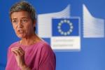 La commissaria Ue alla Concorrenza Margrethe Vestager