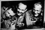 I tre astronauti dell'Apolo 11 Neil A. Armstrong (s), Michael Collins (c) e Buzz Aldrin (fonte: NASA)