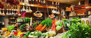 Un negozio di cibo biologico