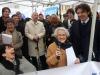 Festeggiamenti per il voto del senato sul biotestamento al presidio dei Radicali in piazza  Montecitorio (archivio)