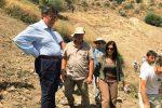 L'assessore Tusa in visita nella zona degli scavi