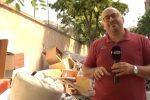 Rifiuti abbandonati in via Andrea Cirrincione a Palermo
