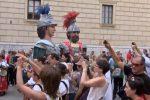 I Giganti di Mistretta a Palermo per il Festino: le immagini da piazza Pretoria