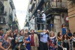 Palermo, ai Quattro Canti si accendono le luci sul Festino di Santa Rosalia