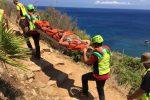 Turista ferita durante un'escursione: le foto del soccorso alpino allo Zingaro
