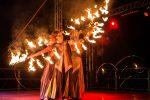 Teatro del Fuoco, le immagini degli artisti sul palco