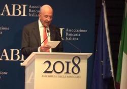 Il presidente dell'Associazione banche italiane a margine dell'assemblea annuale