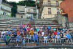 I 44 americani in visita a Ucria
